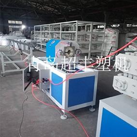 PE管材生产线调机现场